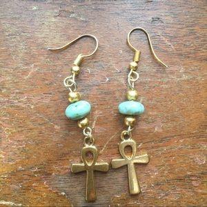 🎄B2G1 now $9 Golden akhn Earrings